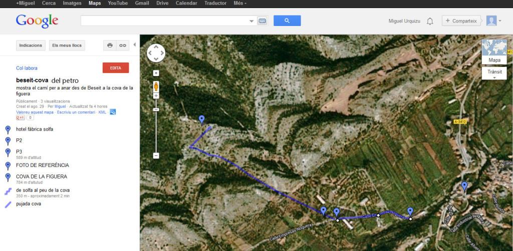 mapa cova petro
